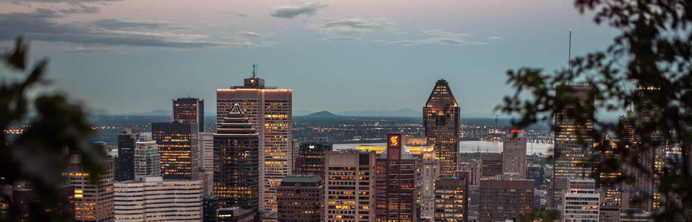 Picture of Montreal at dusk